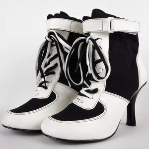 Funtasma Shoes - Funtasma Referee Shoes Black White Harley Quinn